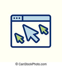 site web, unscrupulously, acquérir, -, indicateur, déclics, ...