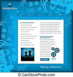 site web, vecteur, editable