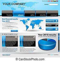 site web, vecteur, editable, gabarit