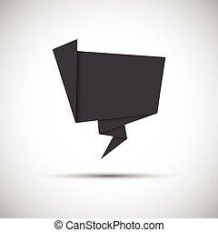 site web, vecteur, gris, illustration, infographic, papier, simplement, icône, origami, vous