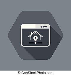 site web, vecteur, -, nous, trouver, application, informatique, ou, icône