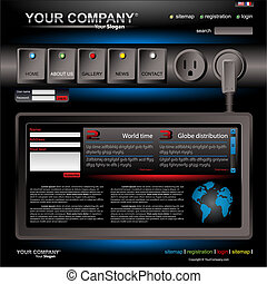 site web, vetorial, editable, modelo