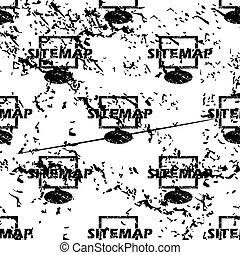 Sitemap pattern, grunge, monochrome