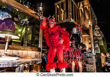 Sitges Carnival 2013 - SITGES, ES - FEBRUARY 07: Sitges...