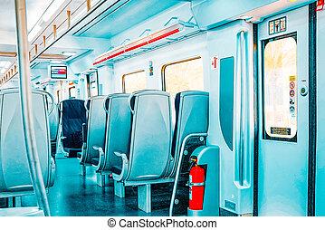 sitges, interno, limite, treno, pendolare, subur, velocità