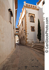 Sitges, old pedestrian part of the town