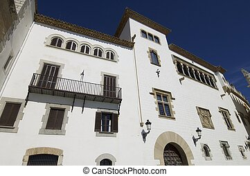 Sitges - Maricel palace in the coastal town of Sitges,...