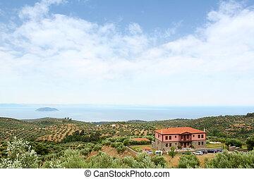 sithonia, landscape
