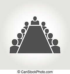 sitio de tablero, alrededor, miembros, sentado