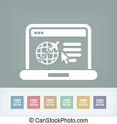 sitio web, agencia de viajes, icono