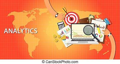 sitio web, analytics, tráfico, datos, conseguir