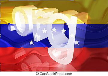 sitio web, bandera, ondulado, venezuela