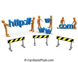 sitio web, construcción