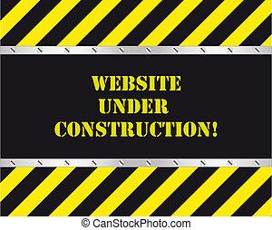 sitio web, construcción, debajo