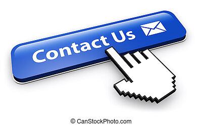 sitio web, contáctenos, email, botón