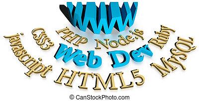 sitio web, desarrollo, software, herramientas, webdev
