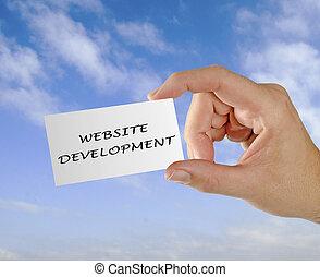 sitio web, desarrollo, tarjeta comercial