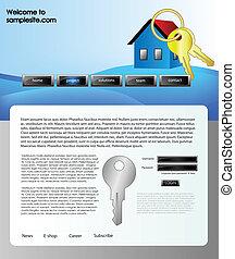 sitio web, diseño, plantilla, 61