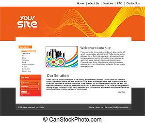 sitio web, diseño, plantilla