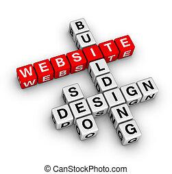 sitio web, edificio