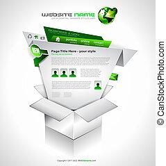 sitio web, -, elegante, complejo, diseño, plantilla