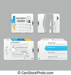 sitio web, elementos, menú, infographic, diseño, plantilla,...