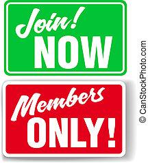 sitio web, ensamblar, solamente, miembros, señales, o