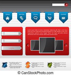 sitio web, entrada, diseño, publicidad, usuario
