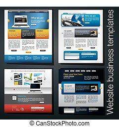 sitio web, exclusivo, empresa / negocio, plantilla