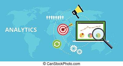 sitio web, gráfico, mantener, tráfico, analytics