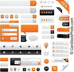 sitio web, gráficos, conjunto