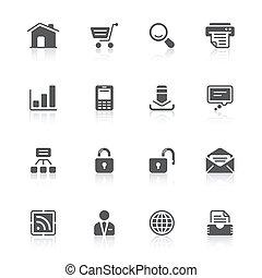 sitio web, iconos
