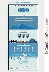 sitio web, norte, escena, uno, poste, diseño, plantilla, página