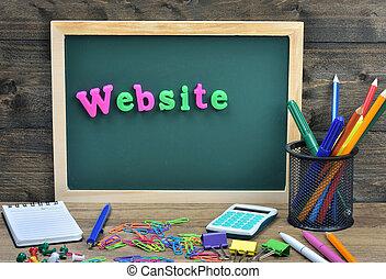 sitio web, palabra
