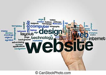 sitio web, palabra, nube