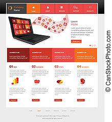 sitio web, plantilla, diseño