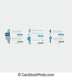 sitio web, plantilla, diseño, menú, navig