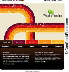 sitio web, plantilla