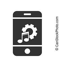 sitio web, simple, ajuste, app, música, parameters, o, ...