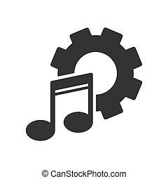sitio web, simple, ajuste, música, parameters, app, o, ...