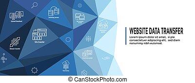 sitio web, tela, conjunto, transferencia, datos,...