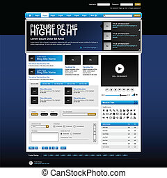 sitio web, tela, vector, elemento del diseño