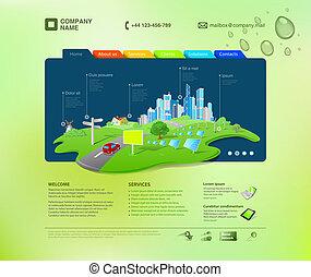 sitio web, template., infographics