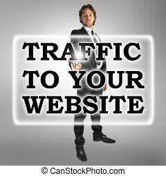 sitio web, tráfico, su