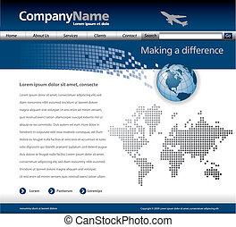 sitio web, vector, plantilla