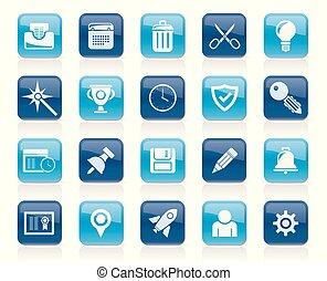 sitio web, y, internet, interfaz, iconos
