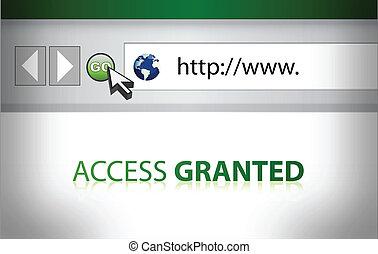 sito web, accesso, granted, illustrazione