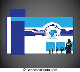sito web, affari mondo, persone