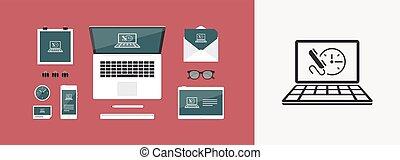 sito web, appartamento, appuntamento, bottone, -, ci, vettore, chiamata, icona
