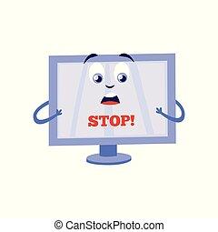 sito web, concetto, proibito, accesso, vettore, internet